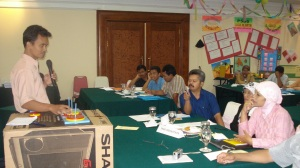 Pelatihan PAKEM Matematika (Demonstrasi Menara Hanoi)